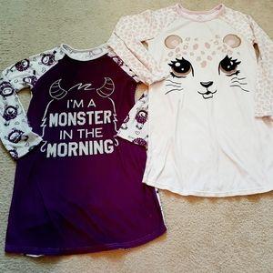 Bundle of 2 Girls Pajama Nightgowns Sz.M(10/12)